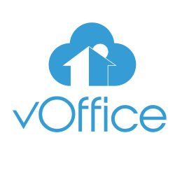 Voffice 300 Dpi Icon Above Full Blue